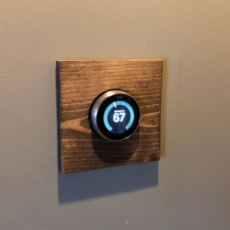Nest Thermostat Wooden Wall Plate Plain Square Etsy in