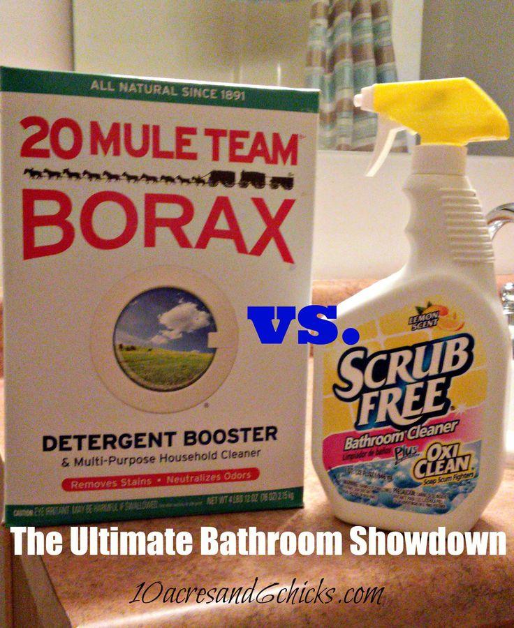 bathroom showdown borax vs oxi clean ultimate bathroom wayside tub
