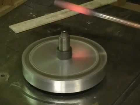 """However it is not """"free heating"""" the spinning magnetic field changes the polarity of the coppers atoms that is why it warms,  but it is a very cheap and easy solution for an induction forge."""