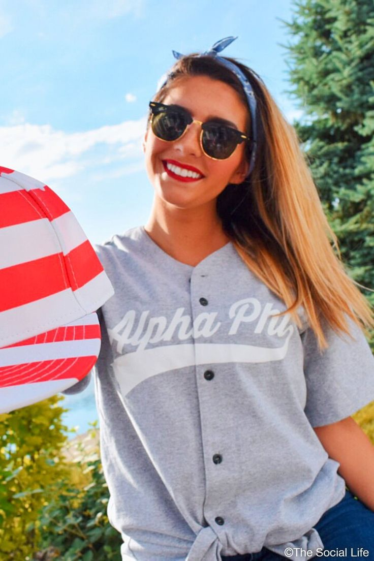 Alpha Phi Baseball Jersey | The Social Life | Premium Greek Apparel