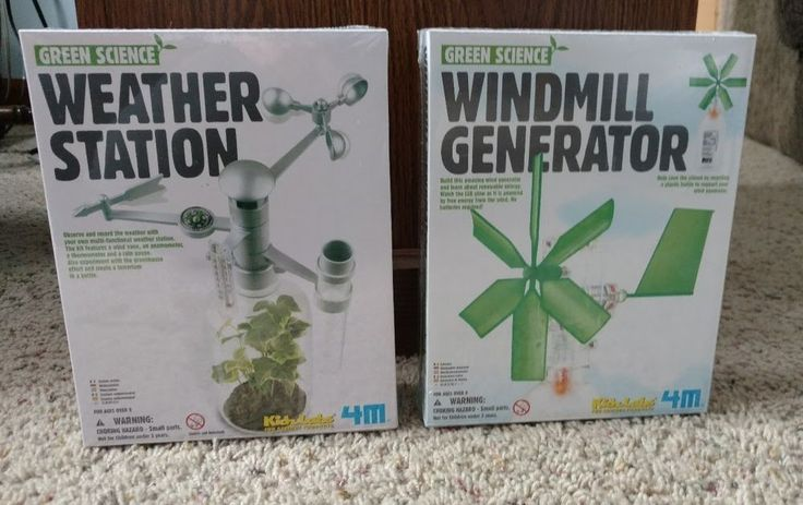 Green Science Windmill Generator Weather Station Kidz Labs Science Products NEW