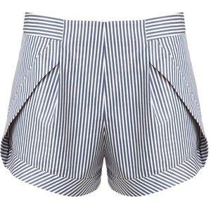 Thakoon Addition Blue Stripe Side Panel Shorts