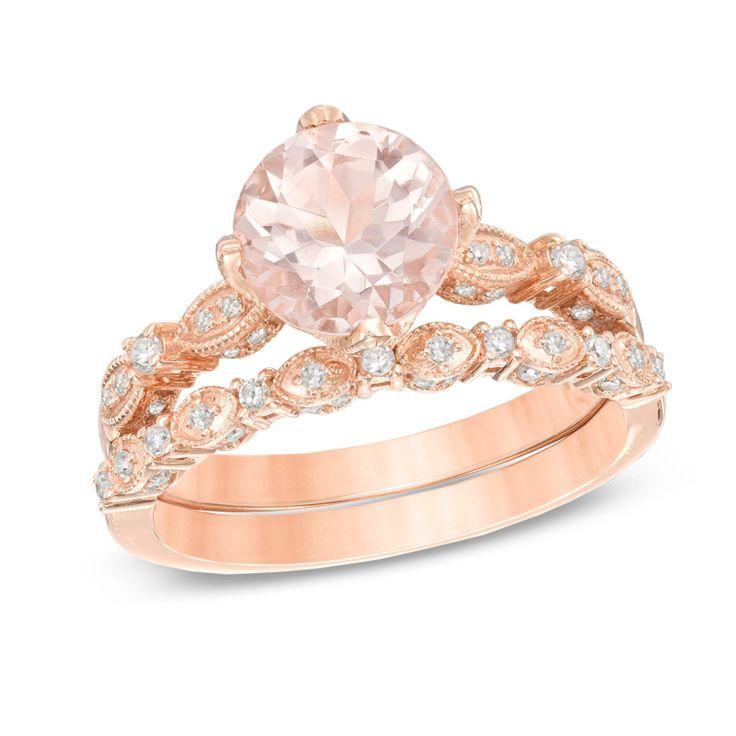 21 best Morganite Rings images on Pinterest Morganite ring Rose