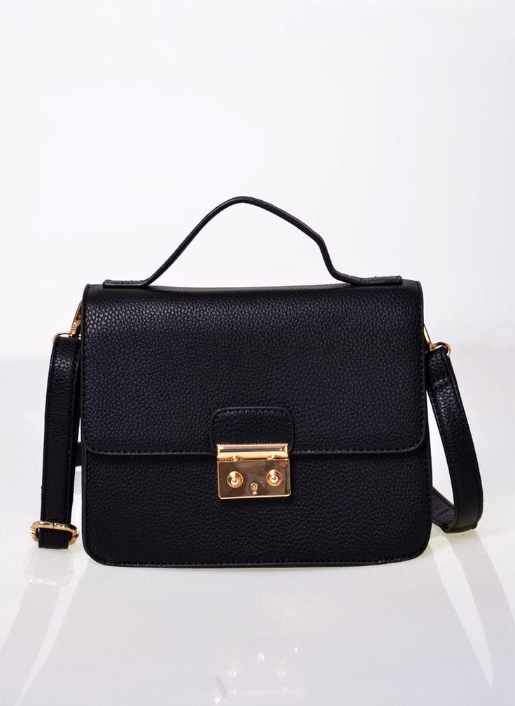 TOREBKA Z PASKIEM XBODY CZARNA I BAG CROSSBODY BLACK I  MONASHE.PL - Sklep online z modną odzieżą. Bluzki, sukienki, torebki, obuwie, akcesoria.