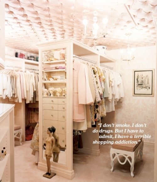 closet with a beautiful tufted ceiling