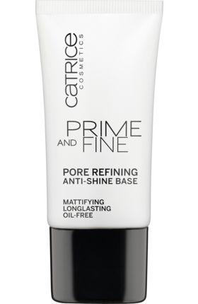 Die Catrice Prime and Fine Pore Refining And Anti-Shine Base minimiert unerwünschten Hautglanz und verfeinert optisch die Poren. Dermatologisch getestet.