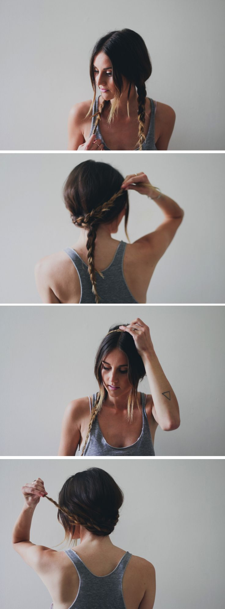Braided Crown Hair Tutorial // Treasures & Travels Blog