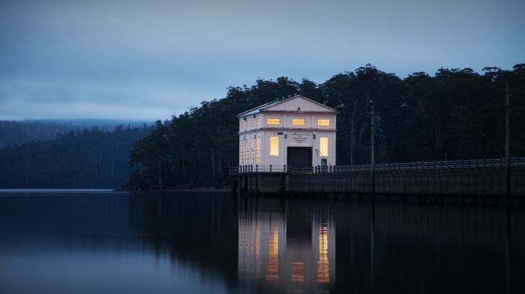 This looks stunning... The Pumphouse at Pumphouse Point | Lake St Clair, Tasmania