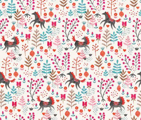 Wild Horses fabric by meghannrader on Spoonflower - custom fabric