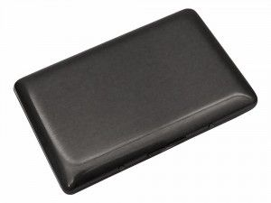 View this image of carrier slim steel smoke card holder with engraving. We Get Personal provides this carrier slim steel smoke card holder. The engraving silver color gives a nice contrast to black card holder. personalised card holder, engraved card holder, Carrier Slim Steel Smoke card holder