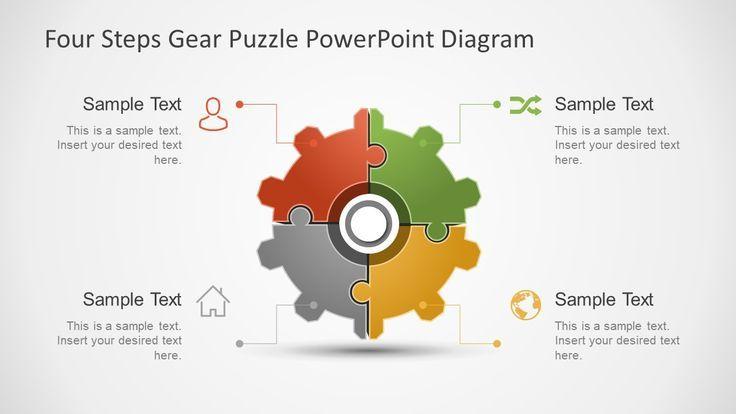 Gear Wheel Four Step Business Diagram Powerpoint Slide Designs Powerpoint Templates Powerpoint