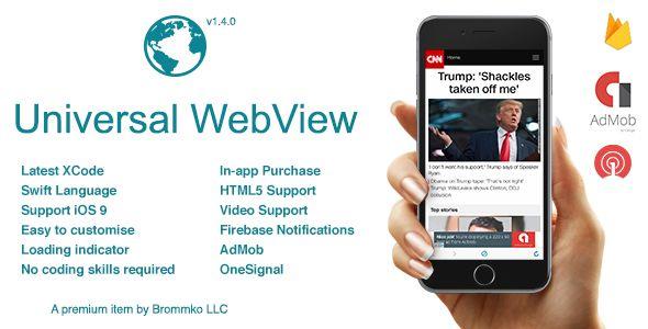 Universal WebView iOS App v1.4.0 - Push Notification, Swift, AdMob - https://codeholder.net/item/mobile/universal-webview-ios-app-push