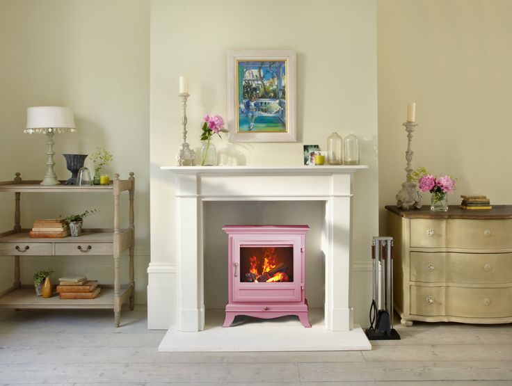 Why not opt for a pink stove, giving a room a feminine look that will look great all year round.