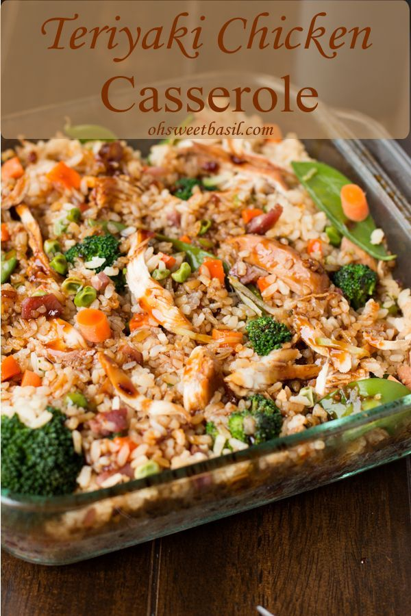 Teriyaki chicken and vegetable casserole recipe - Easy recipe to follow :)