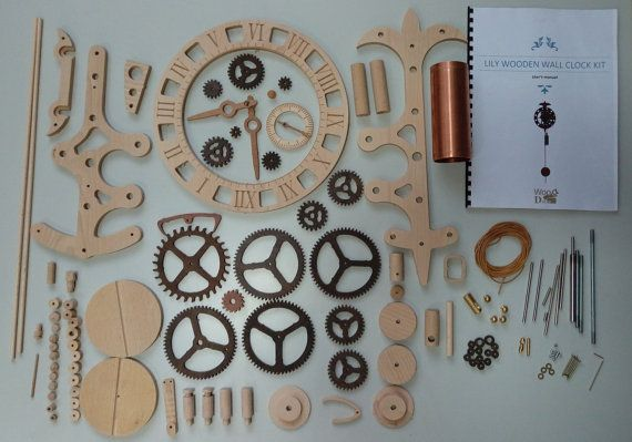 Wooden Wall Clock Lily Kit 238 N 2019 My Wooden Clocks