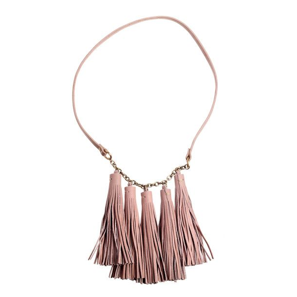 Multi Tassel Necklace Buff