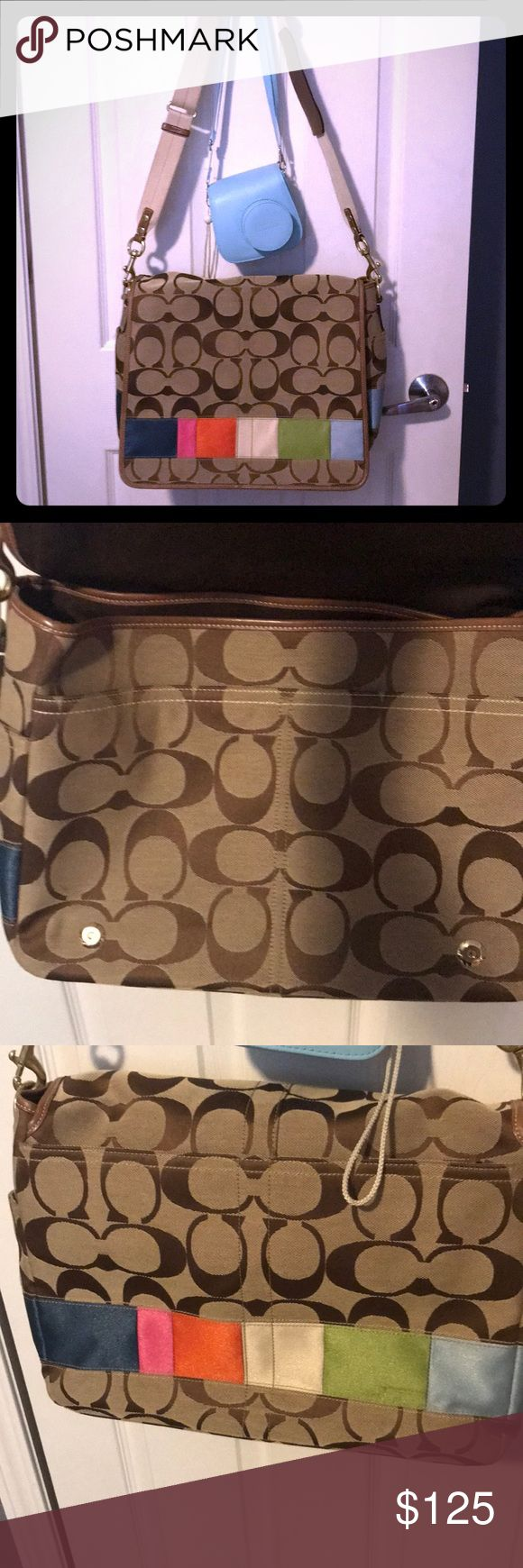 Coach Diaper bag or Laptop carrying case Authentic Coach Canvas Diaper Bag or Carrying case for laptop work or school new condition! Smoke free home Coach Bags Baby Bags