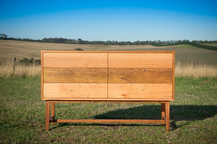 Anglesea Buffet - recycled timber buffet with mid-century silhouette and softly contrasting timber tones.