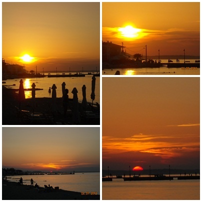 sunset in pefkohori greece in june 2012