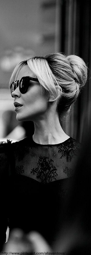 Ulyana Sergeenko wearing The House of Beccaria - black and white women's fashion photography