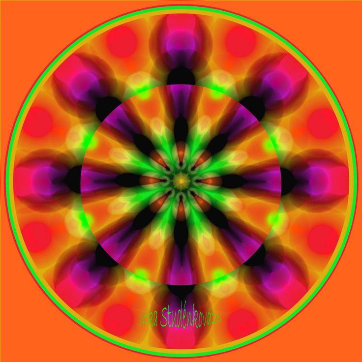 Mandala č.5 - Zralost Mandala dodává energii ke rozhodnutím a činům, které vyžadují vnitřní dospělost/dospělý přístup. Podstata jejího působení spočívá v tom, že podporuje naše naladění na vnímání druhého a tím nám umožní najít všechny aspekty potřebné pro další krok/rozhodnutí. Nenechá nikoho dlouho otálet na místě. počítačová grafika, rozměr ...