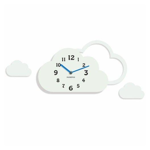 Detske hodiny na stenu v tvare oblacika