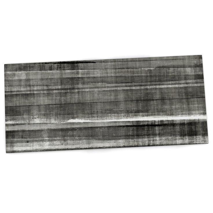 "CarolLynn Tice ""Grey Accent"" Dark Neutral Desk Mat"