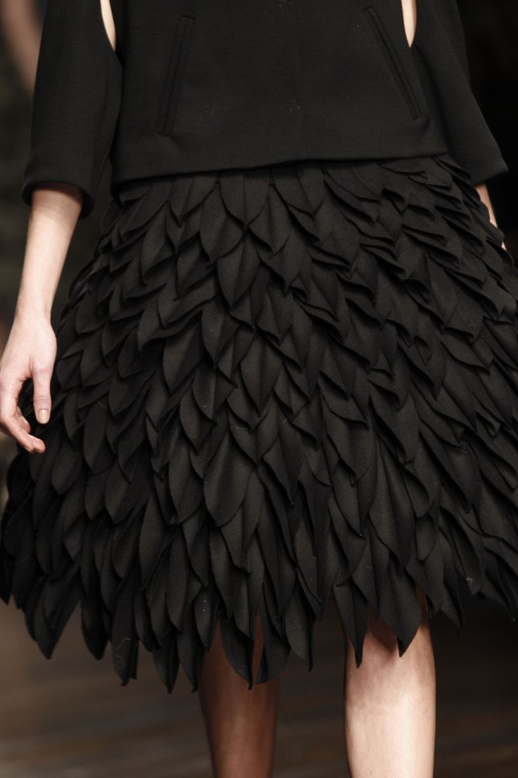 Wool leaves layered leaf texture skirt fabric for Fashion fabrics