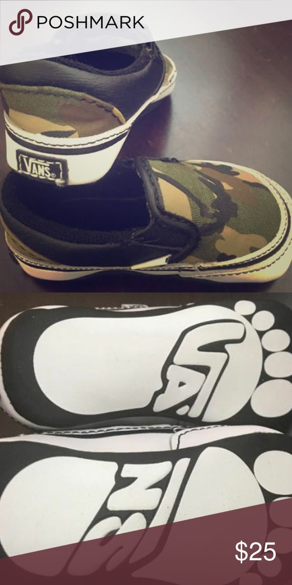 New infant vans Camouflage pattern baby boy vans. Brand new but taken it of box. Open to offers Vans Shoes