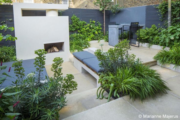 Great focal point to the space #fireplace #outdoor