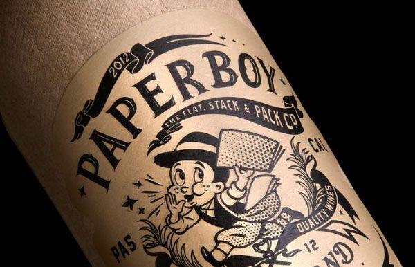 La bouteille de vin en papier Paperboy