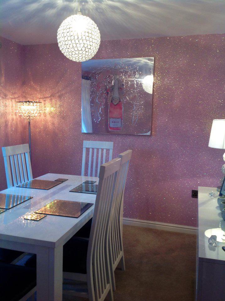 20 best glitter wallpaper images on pinterest glitter walls sparkly walls and bedroom ideas - Glitter wallpaper ideas ...