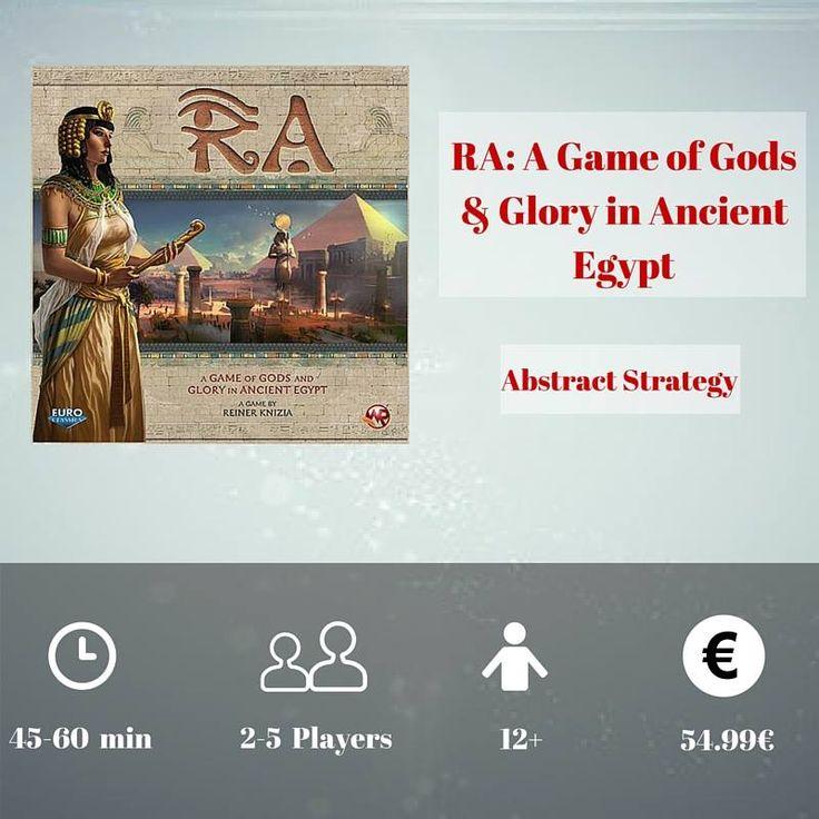 Το παιχνίδι ακολουθεί 1500 χρόνια της αιγυπτιακής ιστορίας σε λιγότερο από μία ώρα!Οι παίκτες προσπαθούν να επεκτείνουν την εξουσία και τη φήμη τους και όλα αυτά για τη δόξα του Θεού Ήλιου Ρα! https://goo.gl/Iq3sp5