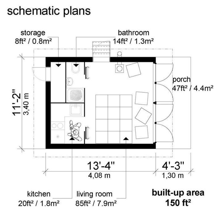 Great Tiny House Floor Plans Louise