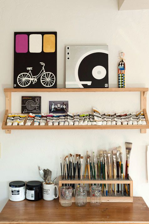 like the paintbrush holder, I could organize my paintbrushes by size! So convenient when painting.