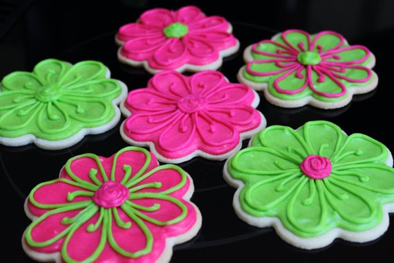 bright daisy flower sugar cookies | cookies: decorated ...