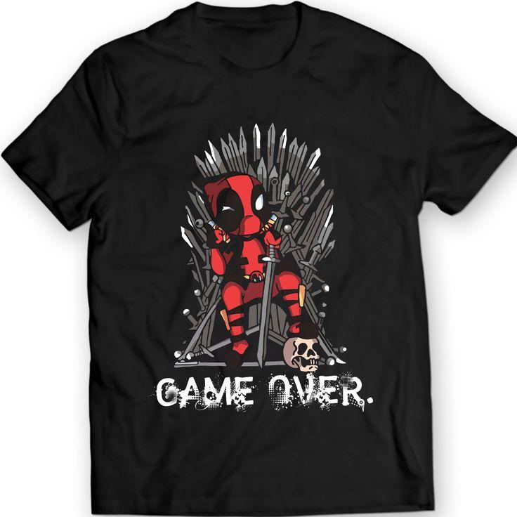 Deadpool vs Spiel des Thrones T-Shirts, Marvel Comics Hemd 100% Baumwolle
