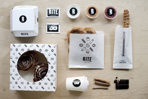Bite is a bakery and café selling pretzels, rolls and other pastries, located in the heart of Budapest that has outstanding branding. #Budapest #Bakery