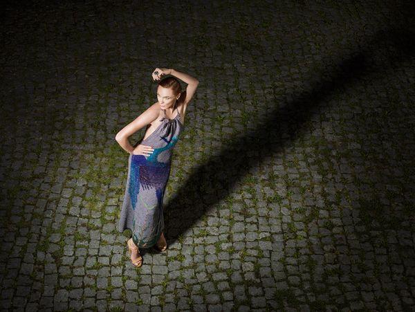 Dziania z lat 70. dzisiaj też świetnie wygląda (wł. MNK), fot. Prac. Fotograficzna MNK, stylizacja Sara Damm, modelka Beata Augustyniak #PRL #Polish Fashion #Moda Polska