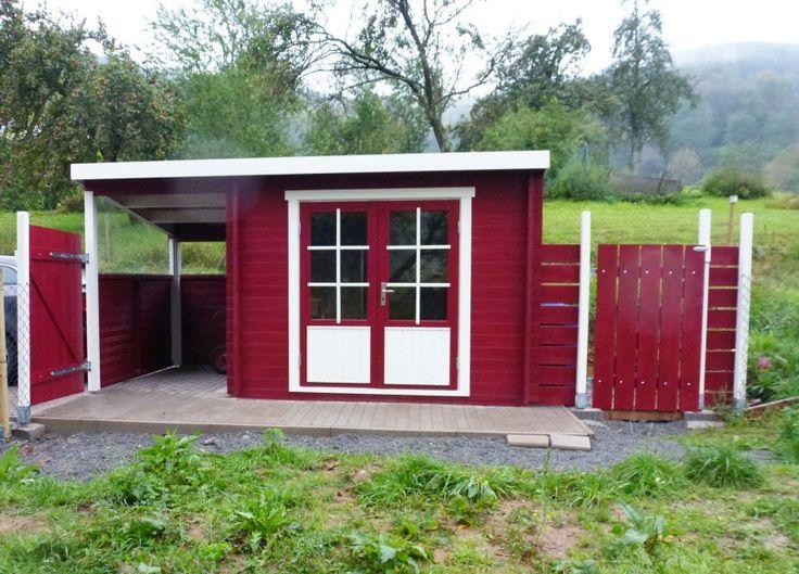Pultdach Gartenhaus Modell Maria-28 mit Schleppdach - A-Z Gartenhaus-GmbH