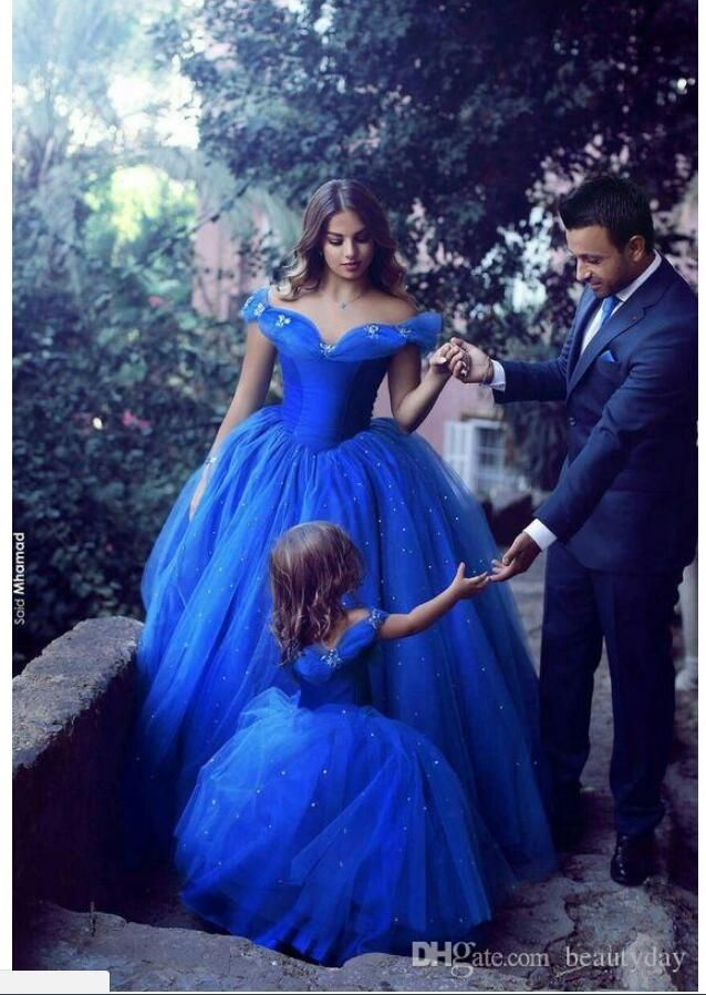 92c021cc83494 Said Mhamad Royal Blue Princess Wedding Flower Girl Dresses Puffy ...