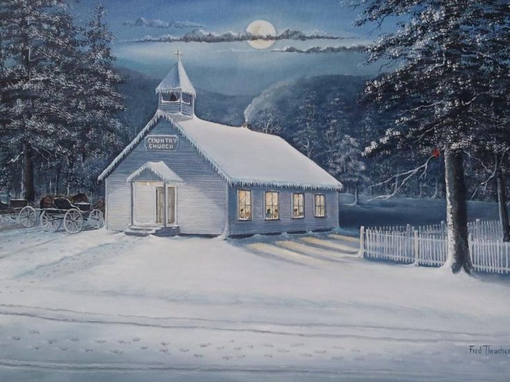 Country Church by Fred Thrasher