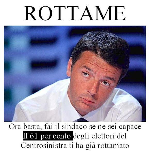Renzi. Da rottamatore a rottame
