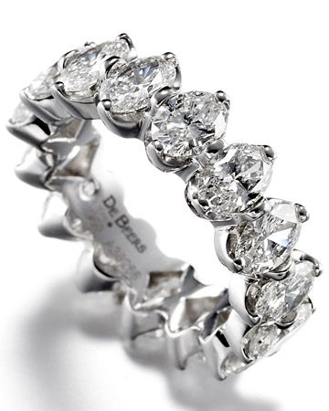 Wedding Band with Round Brilliant Diamonds. De Beers