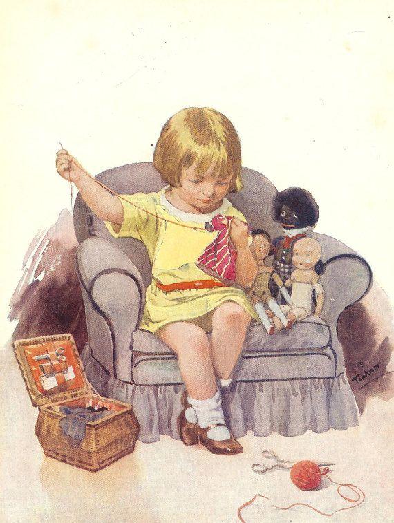 1939 Children's Print Inez Topham Young by printsandpastimes