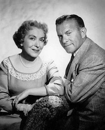 """The George Burns-Gracie Allen Show"" (1950-58)  George Burns and Gracie Allen  c. 1954"