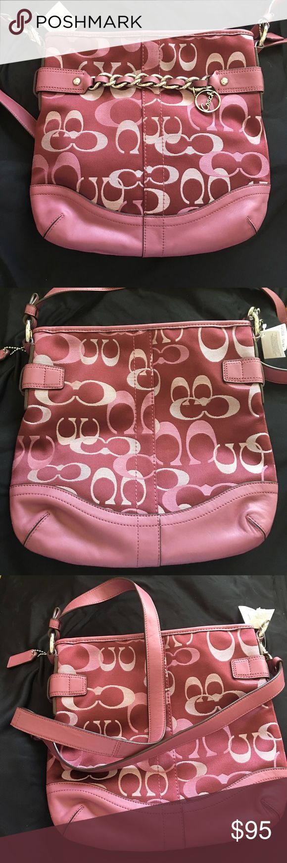 Brand new coach handbag Authentic brand new coach bag-please see picture small pull on material Coach Bags Crossbody Bags