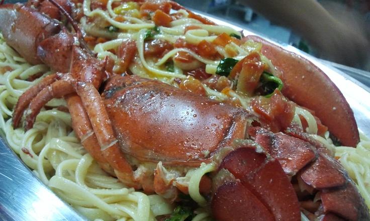 Tagliolini all'astice  #food #bagnocerboli #follonica #italianfood #foodfotografy #fishfood #tagliolini #pasta #astice #lobster
