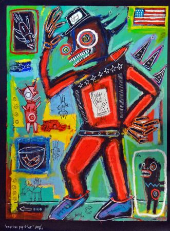 Matt  Sesow  American Pop Star - 2014   Acrylic and oil on canvas   78.8 x 104.2 cm