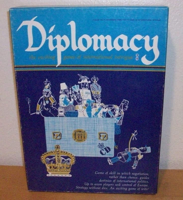 DIPLOMACY Game of International Intrigue ~ Avalon Hill 1976 BOOKSHELF GAME…